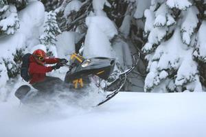 poleiro de snowmobile foto