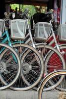 roda de bicicleta da cidade vintage