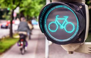 semáforo para bicicletas foto