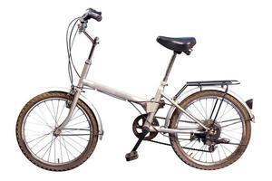 foto de estúdio de uma pequena bicicleta genérica velha