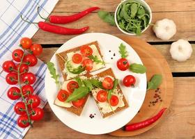 mesa vegetariana foto
