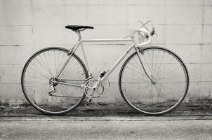 bicicleta de estrada vintage foto