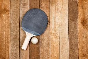 raquete de ping pong vintage foto