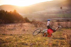 acidente de bicicleta foto