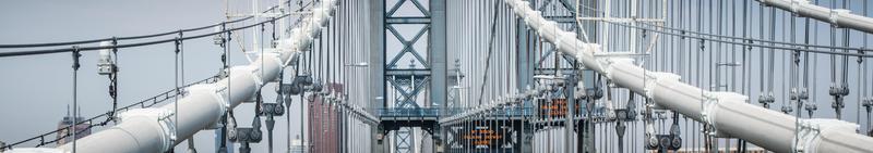 detalhe da ponte de manhattan foto