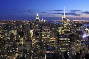 skyline da cidade de nova york, manhattan, nova iorque foto