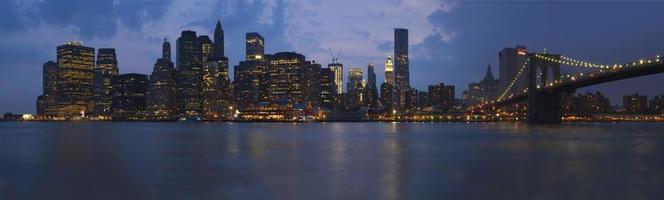 eua - nova york - nova york, ponte de brooklyn foto