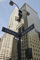 eua - nova york - nova york, sinal de estrada foto