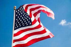 bandeira dos estados unidos da américa foto