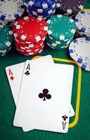 dois ases de poker foto
