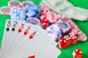 cartão para poker foto