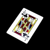 cartão de jack trevo isolado no preto foto