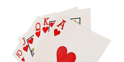 cartas de poker foto