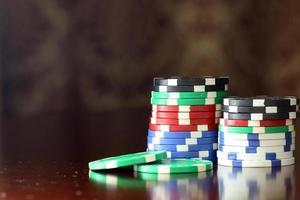 cartões de fichas de pôquer
