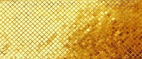 fundo de mosaico de azulejos dourados. foto