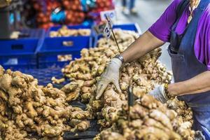 mercado em bangkok, Tailândia. foto