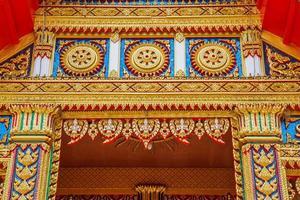 arte em templo da tailândia foto