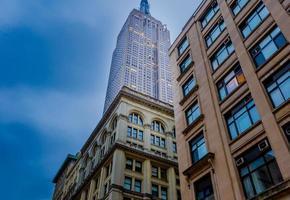 skyline do centro de nova york, nova york, eua