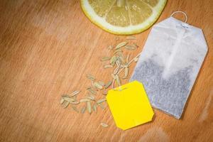 limão e chá foto