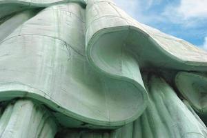 detalhe na estátua da liberdade foto