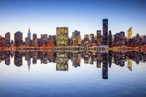 vista da cidade de nova york foto