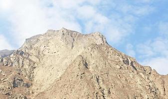 dongyuan montanha em lixian, china foto