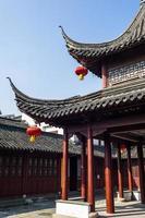 o pavilhão no templo confucionista, em nanjing foto
