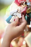 toque da chave mestra do coração (seul, coreia do sul) foto