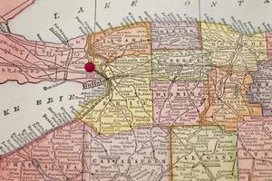 búfalo no mapa vintage foto