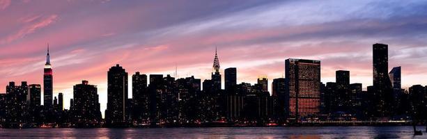 cidade de nova york manhattan panorama do sol
