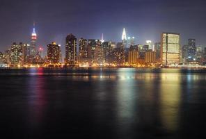 panorama de manhattan da cidade de nova york foto