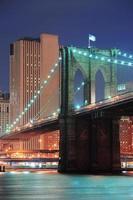 cidade de nova york ponte de brooklyn closeup foto