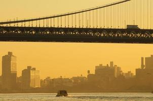 Ponte de Brooklyn close-up. foto