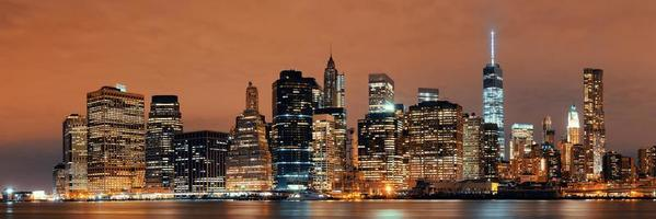 Manhattan à noite foto