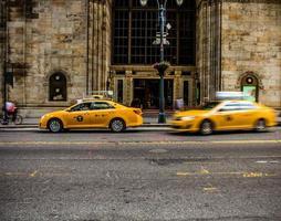 táxi amarelo foto