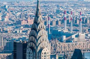 vista aérea da cidade de nova york manhattan midtown panorama com skyscr foto
