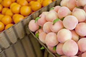 frutas frescas, pêssego foto