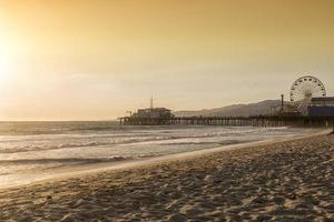 praia de santa monica, los angeles, califórnia foto