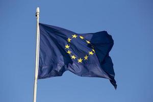 bandeira europeia em roma (itália) foto