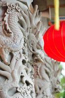 estátua de dragão foto