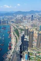 vista aérea de hong kong foto