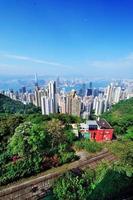 vista superior da montanha de hong kong foto