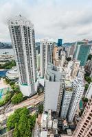 paisagem urbana calçada baía hong kong foto