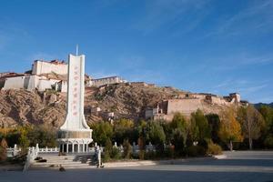 Castelo de zongshan. recolhido o gyangtse (gyangze) do Tibete.