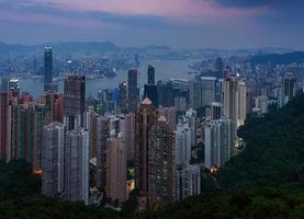 skyline de hong kong foto