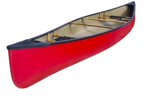 canoa em tandem vermelha foto