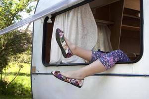 relaxamento em caravana foto