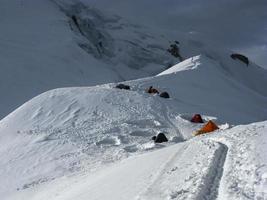 acampamento nas montanhas altas