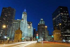 Michigan Avenue em Chicago. foto