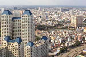 panorama da cidade de ho chi minh, saigon vietnã